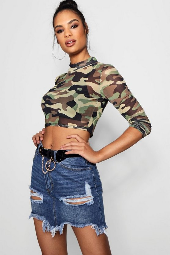 Womens Mid blue Ripped Distressed Denim Mini Skirt