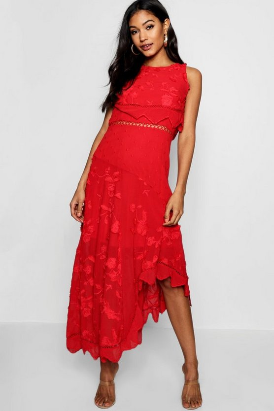 Boutique Amra Embroidered Asymmetric Dress