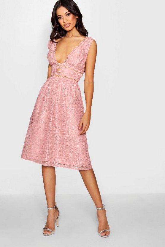 Womens Blush Boutique Panelled Skater Dress