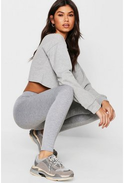 Grey marl Basic Jersey Leggings
