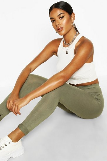 Khaki Jersey Leggings