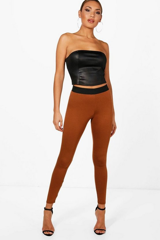 Contrast Waistband Leggings