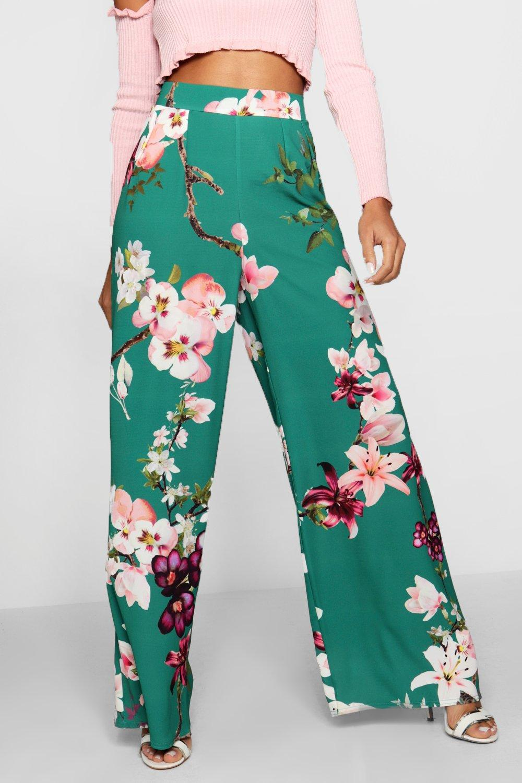 pata Oriental ancha de esmeralda Pantalones XwSYq