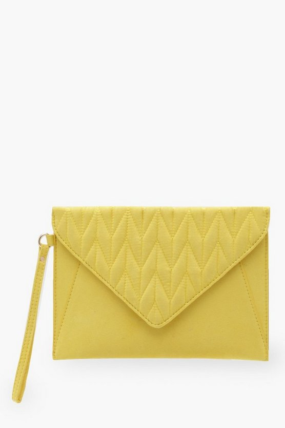 Quilted Flap Wristlet Clutch