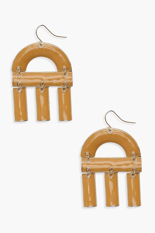 Acrylic U Shape Drop Earrings