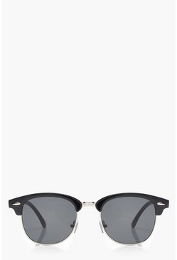 Dam Black Retro Frame Sunglasses