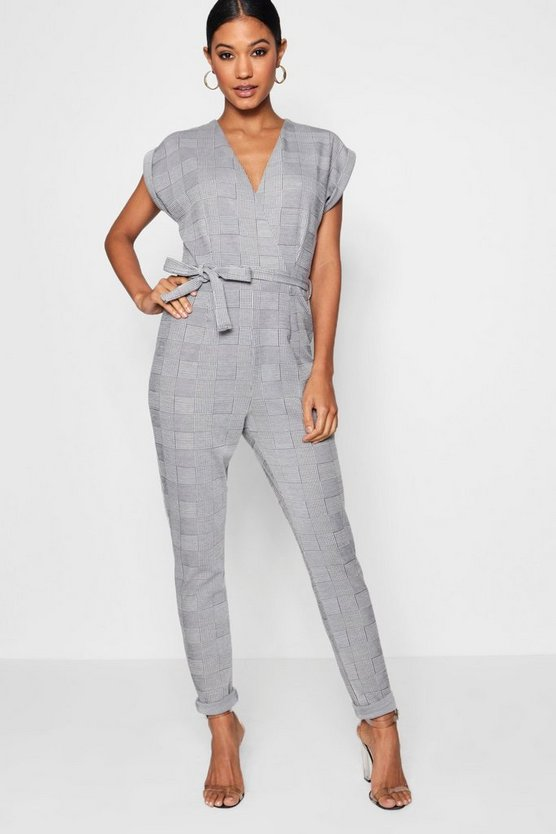 Jade Check Tailored Jumpsuit