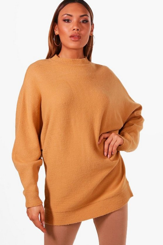 Womens Oversized Batwing Soft Knit Jumper