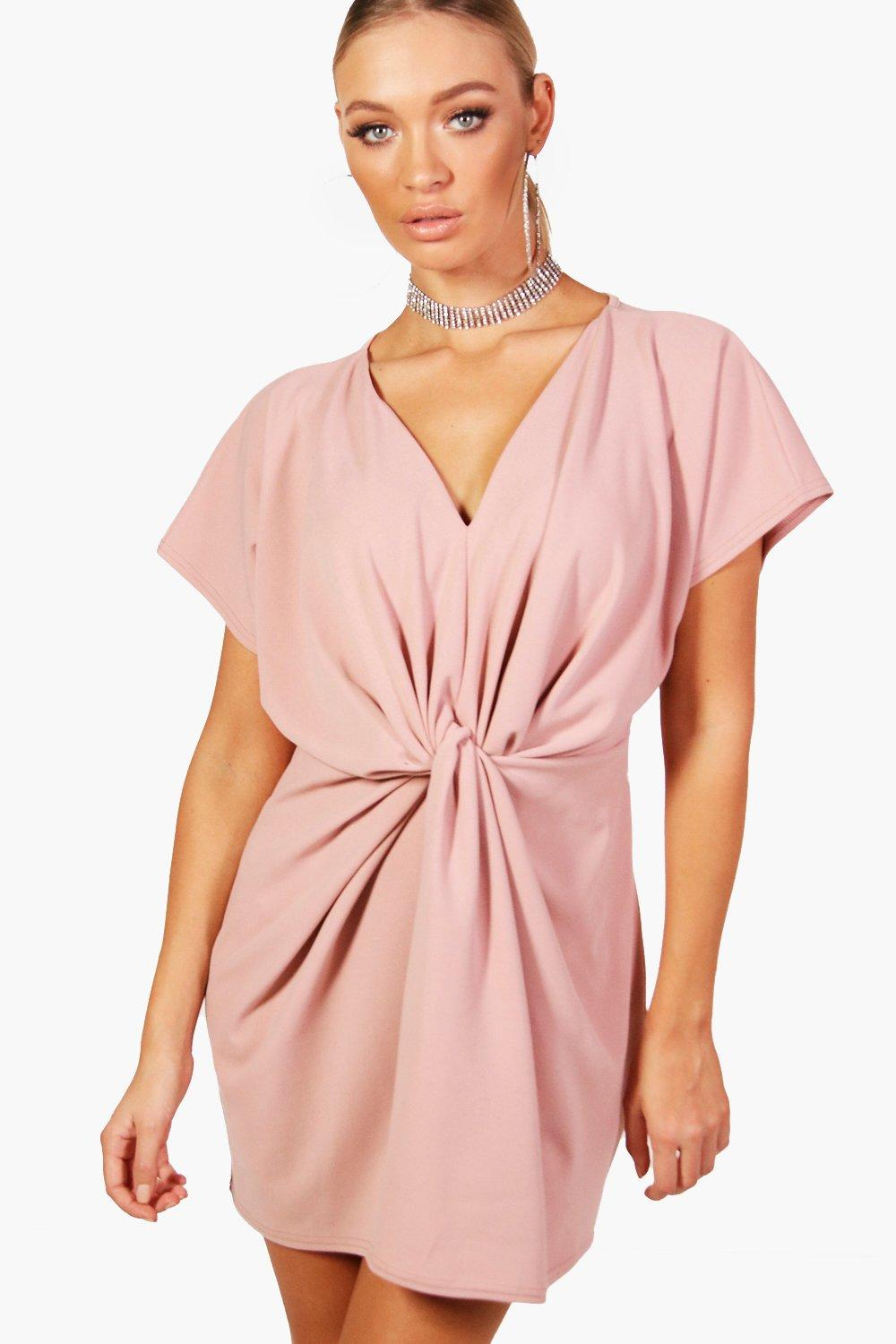 Twist Knot Front Detail Bodycon Dress | Boohoo