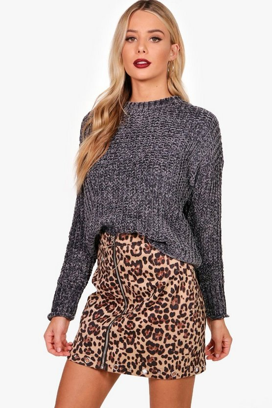 Pull en maille chenille