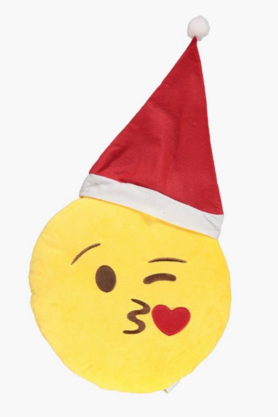 Kiss Emoji Christmas Cushion