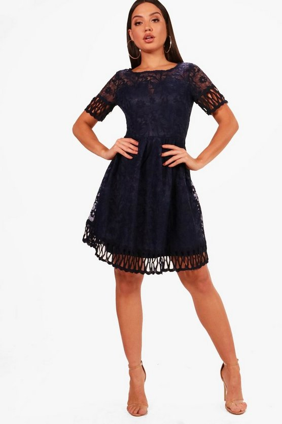 Boutique Ava Embroidered Lace Prom Dress