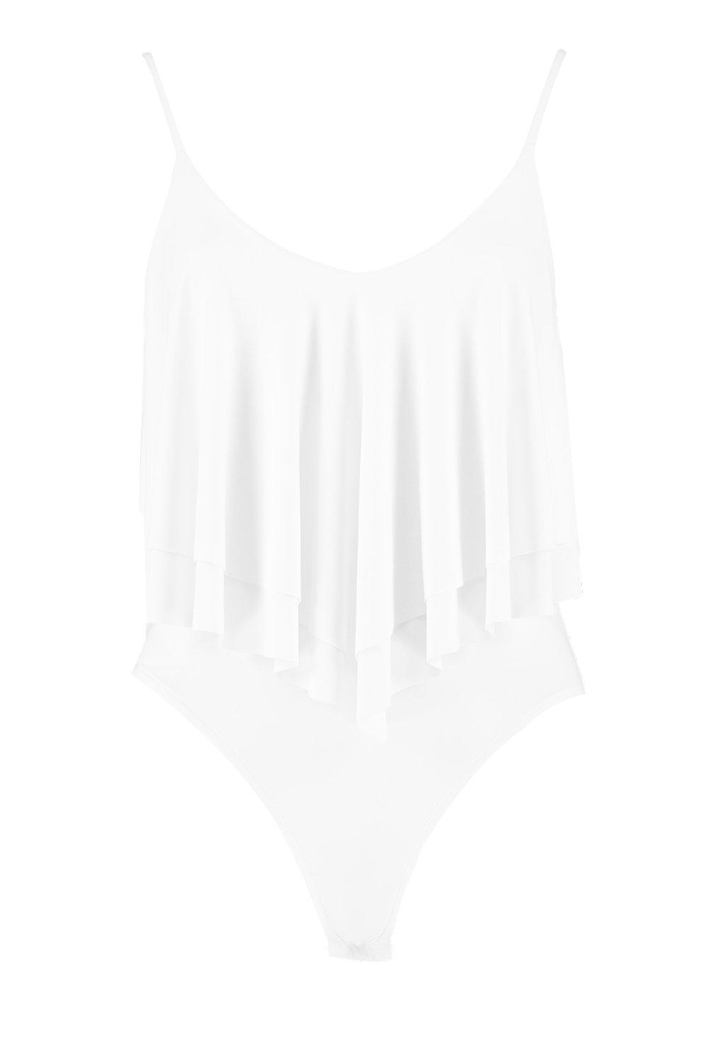 Double Frill Layer ivory Layer Bodysuit Bodysuit Frill Double Frill Layer Bodysuit ivory Double qHwRn4Y