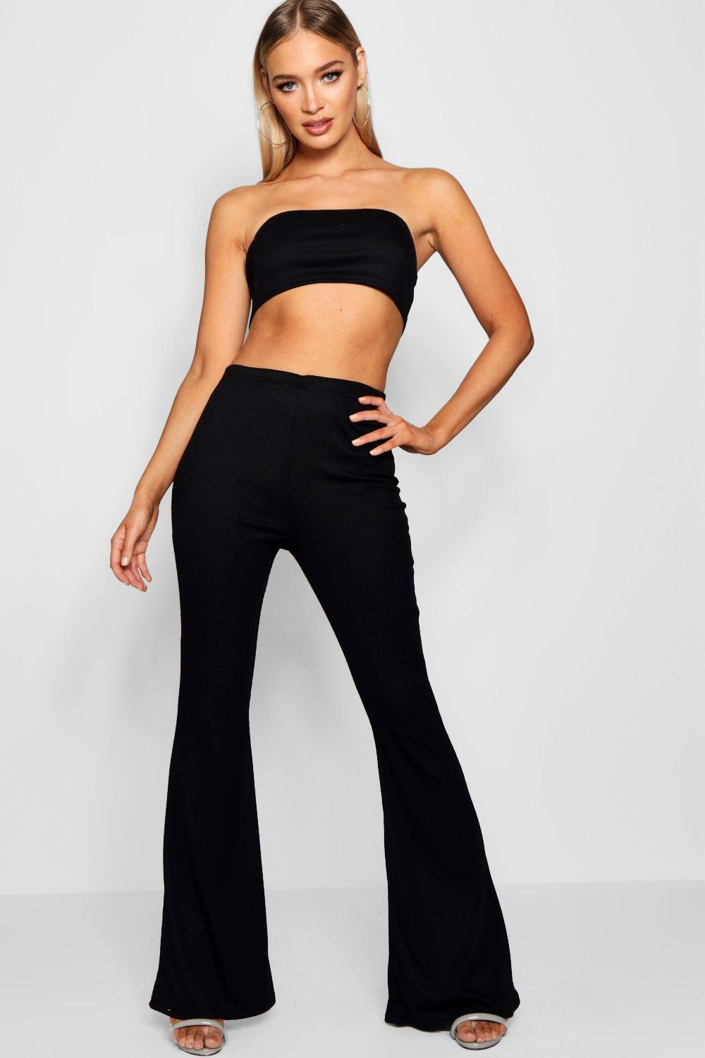 Basic Co Bandeau Trouser Flared black ord and rqrSwPdI