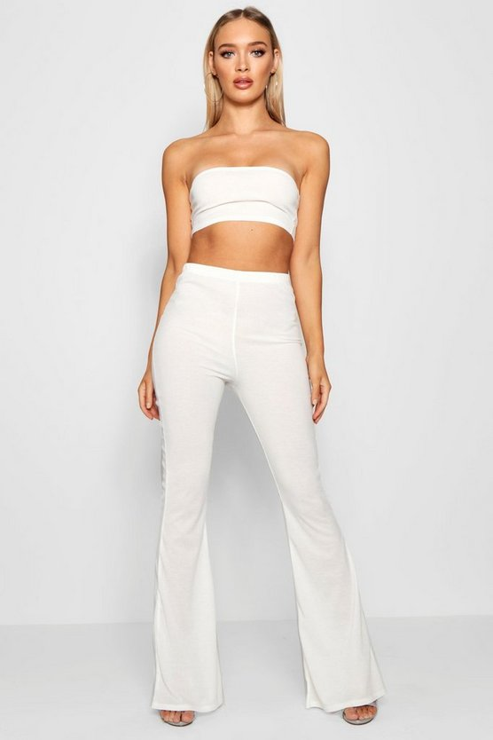 Basic Bandeau and Flared Trouser Co-ord