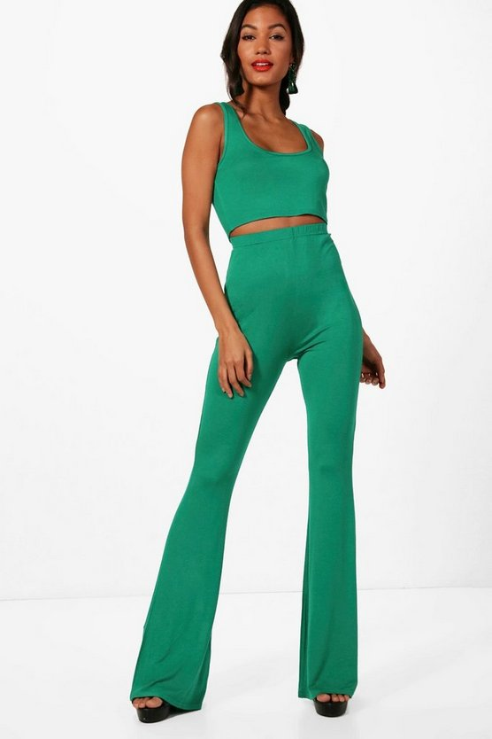 Basic Bralet and Flared Trouser Co-ord