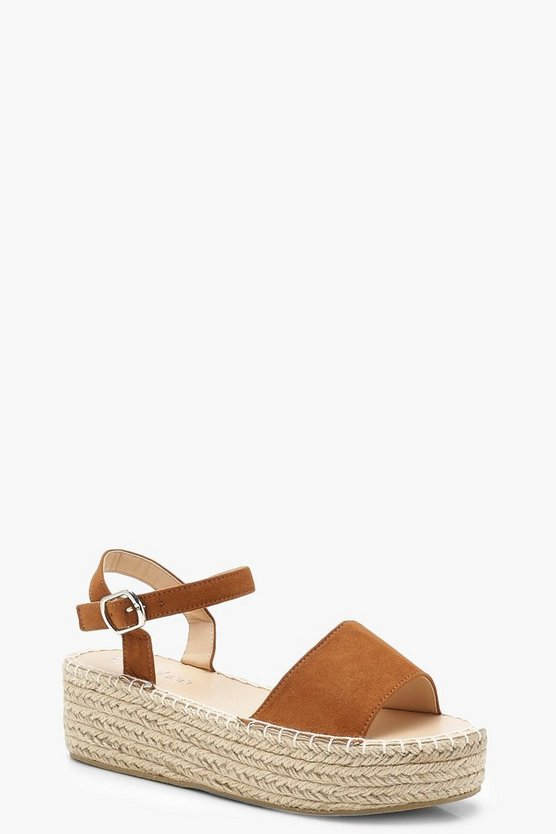 Flatform Espadrille 2 Part Sandals