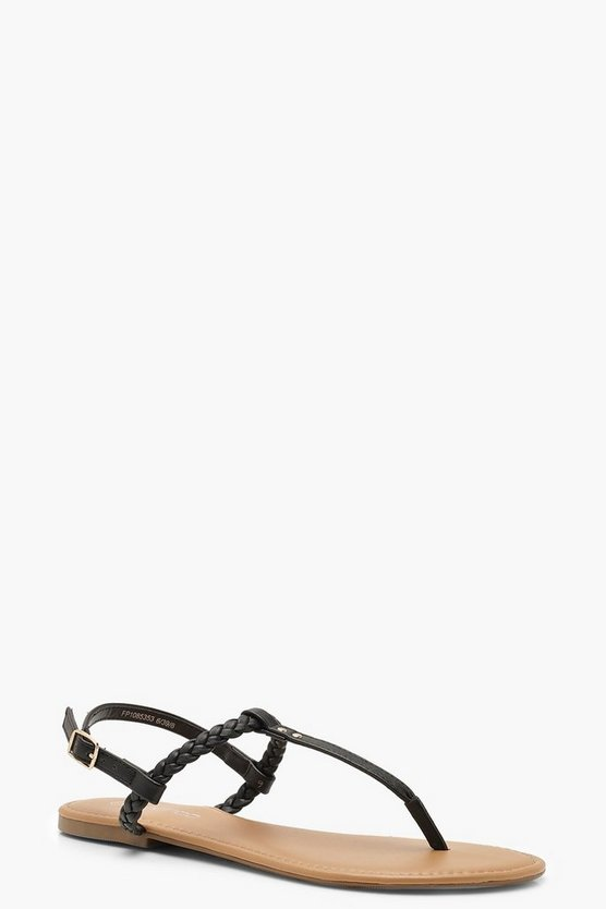 Pleated T Bar Sandals