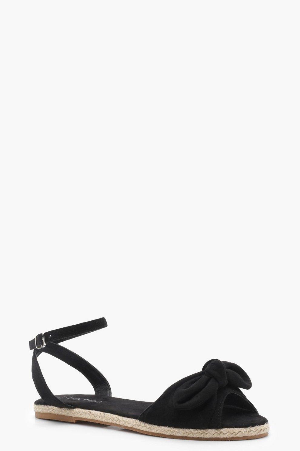 ddc22f591b7a Espadrille Bow Detail Sandals