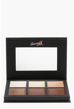Womens Brown Barry M Chisel Cheeks Contour Cream Kit