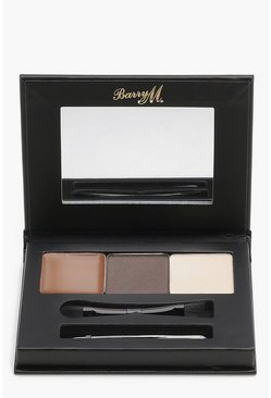 Barry M Brow Kit Medium/Dark, Medium brown, MUJER