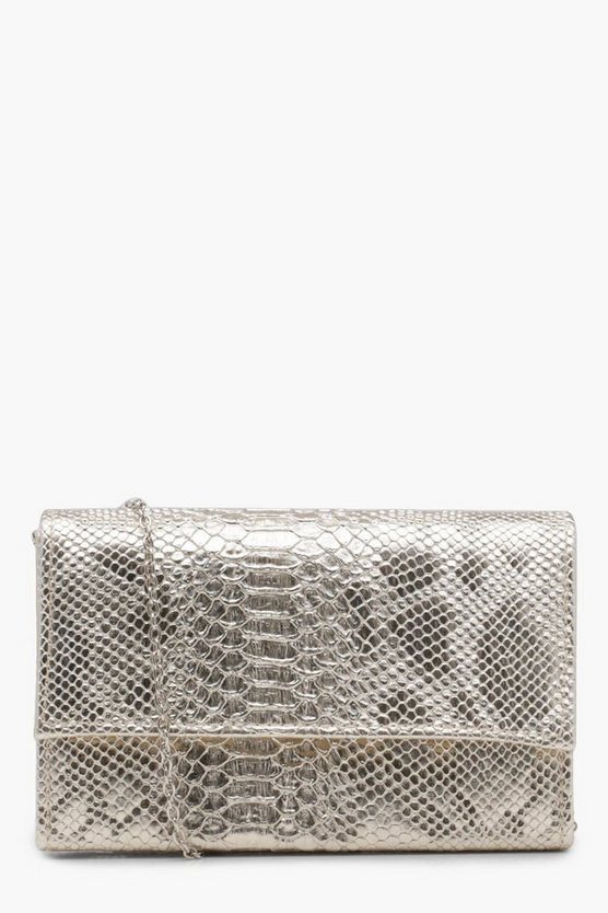 Lily Faux Snake Structured Cross Body