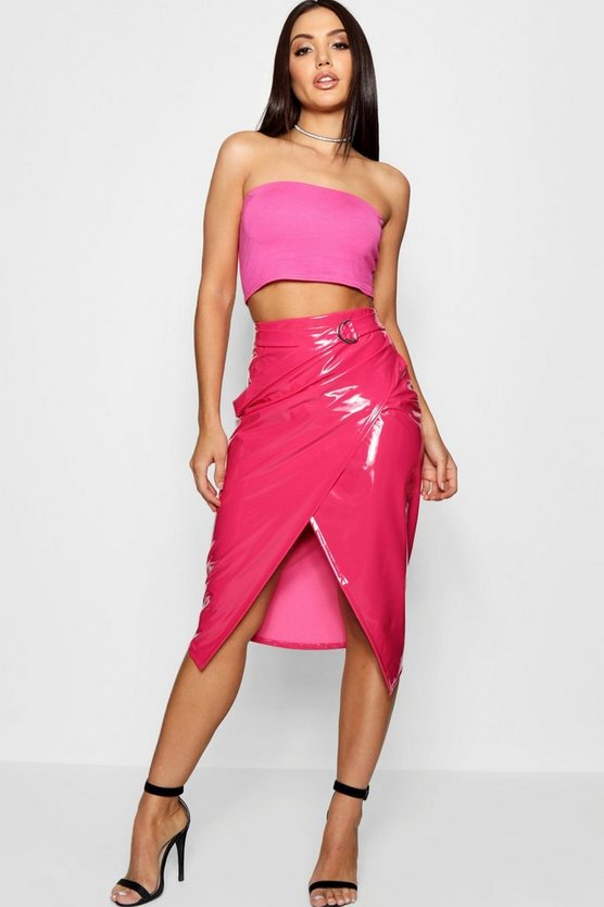 Paige Vinyl Wrap & Belted Midaxi Skirt