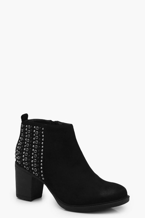 Rebecca Diamante Back Counter Ankle Boot