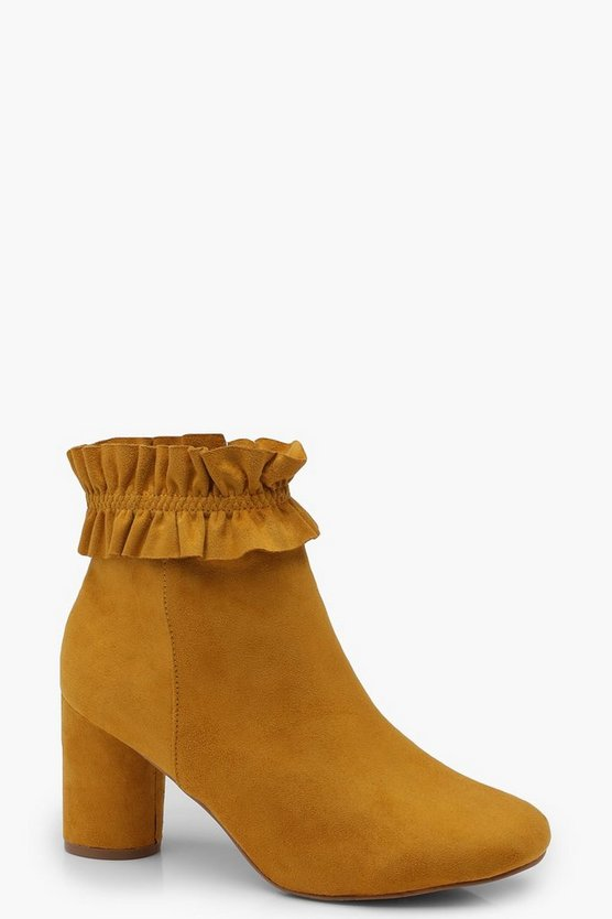 Bella Frill Trim Ankle Boot