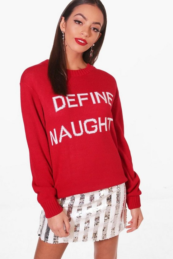 Define Naughty Christmas Jumper
