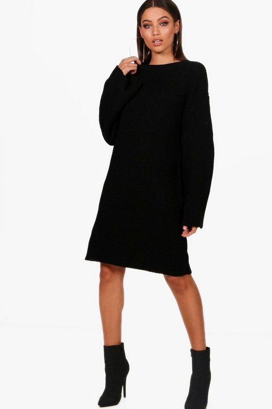 Wide Sleeve Knitted Dress