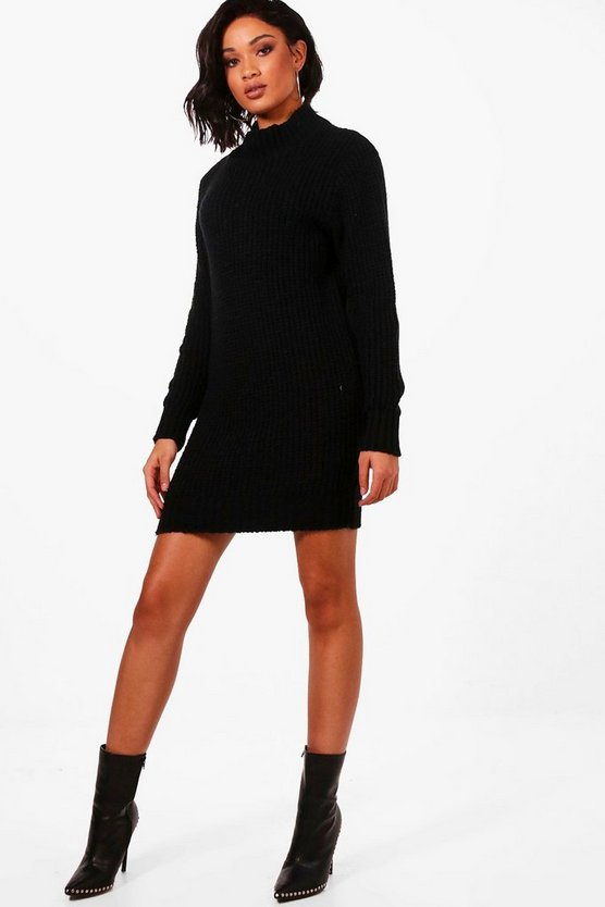 Maria Turtle Neck Soft Knit Jumper Dress