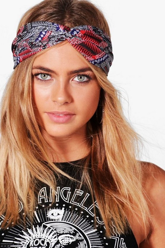 Isabelle Multi Colour Aztec Print Turban Headband
