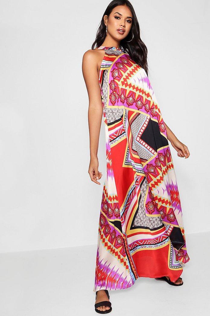 Plus Size Hanky Hem Maxi Dress
