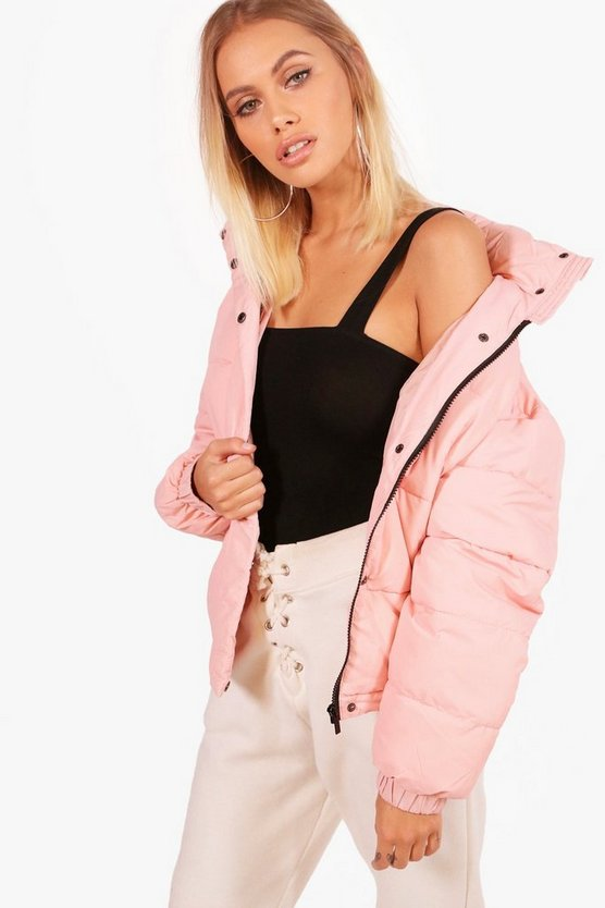 Tegan Funnel Neck Quilted Jacket