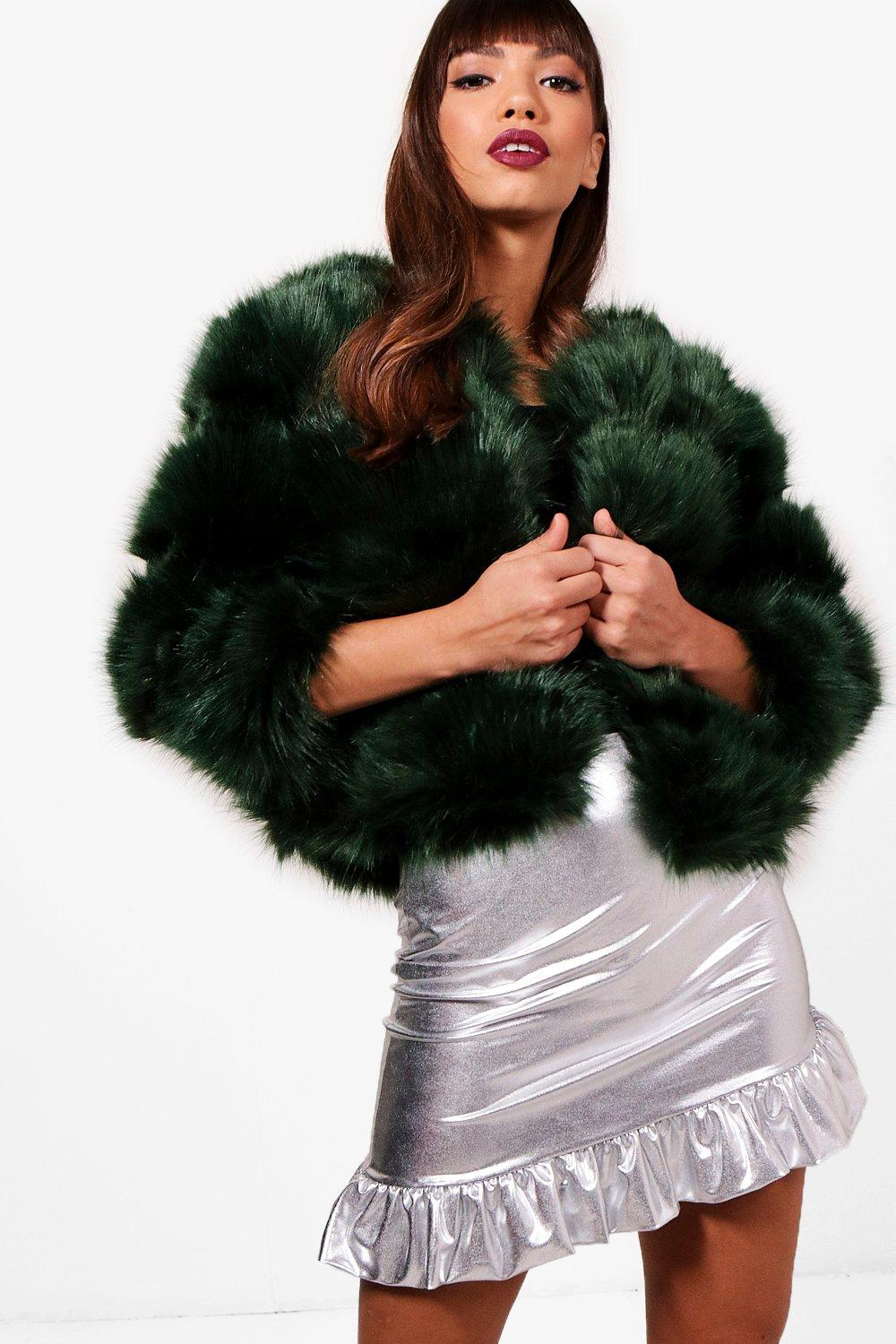 7fd17e5295149 Blake Boutique Panelled Faux Fur Coat. Hover to zoom