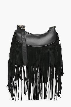 Tassel Hobo Cross Body Bag