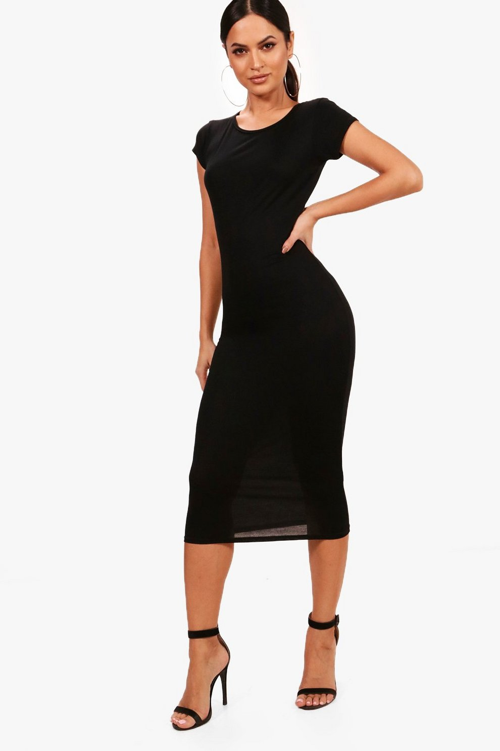 381dd784829d Cap Sleeve Jersey Bodycon Midi Dress | Boohoo