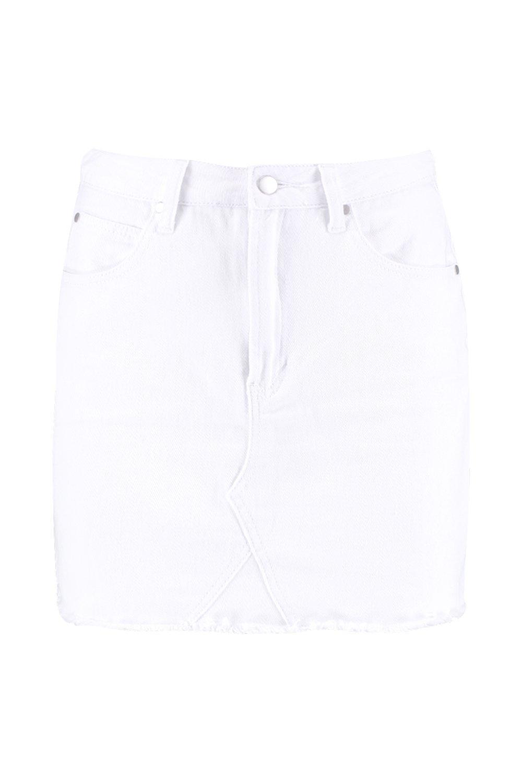 Mini white Denim Mini Denim Skirt qn7H4ZS