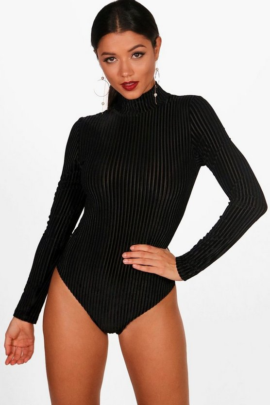 Holly Velvet Stripe Bodysuit