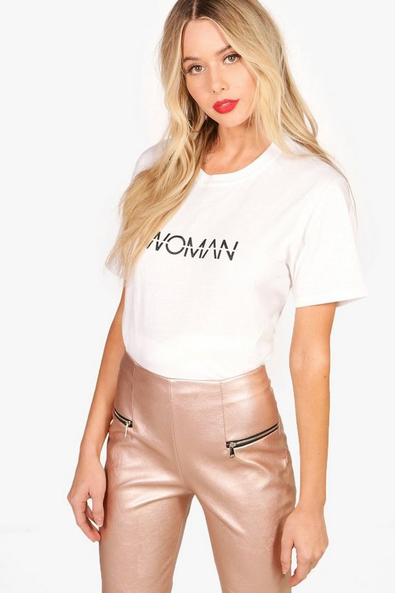 Woman Slogan T-Shirt
