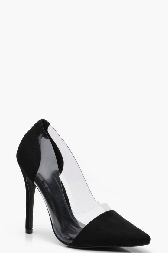 Alice Clear Panel Court Shoes