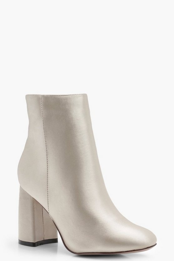 Maddison Satin Flared Heel Shoe Boot