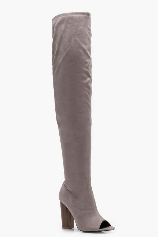 Daisy Peeptoe Thigh High Boot