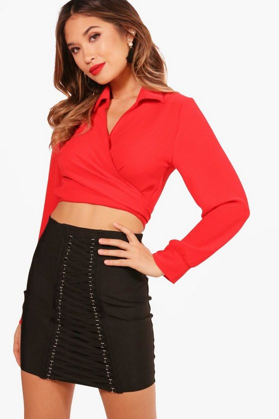 Olivia Wrap Crop Shirt