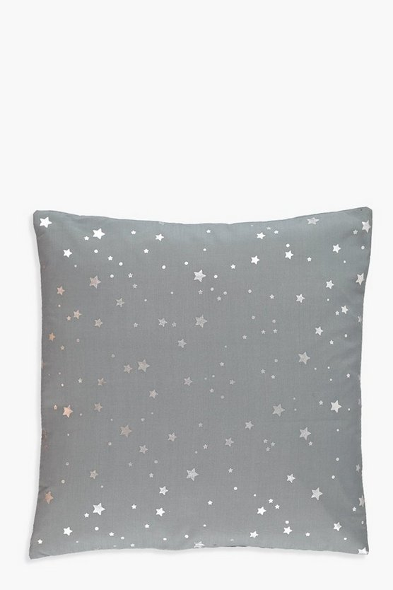 Cosmic Silver Star Cushion