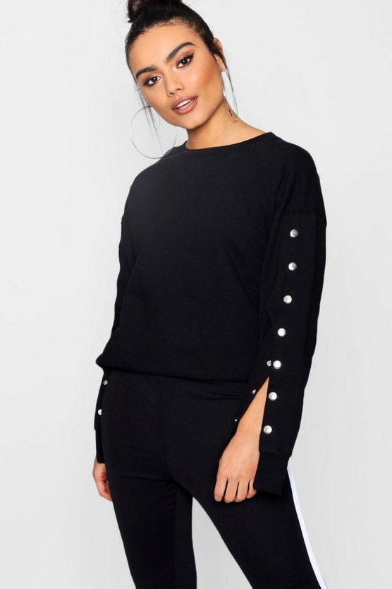 Bryony Athleisure Popper Sleeve Top