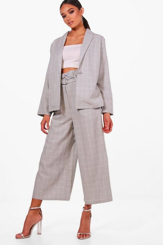 Ring Belt Paperbag Waist Trouser