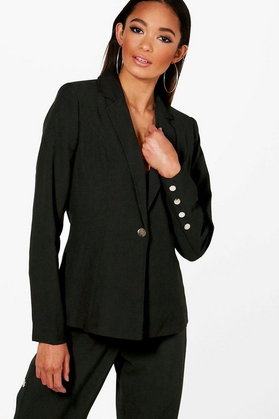 Popper Sleeve Blazer