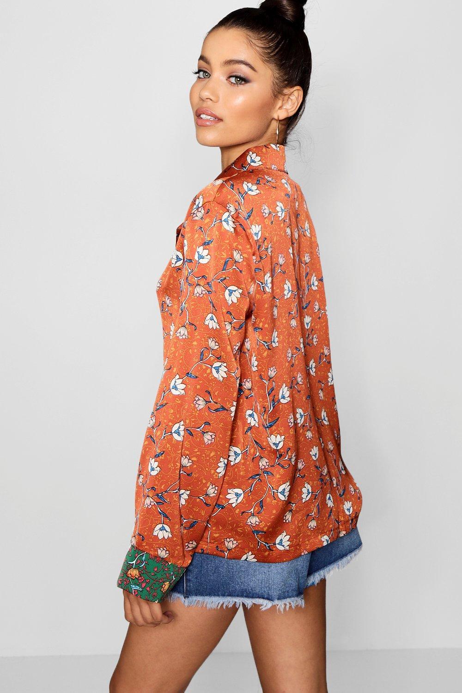 Boohoo-Sarah-Printed-PJ-Blazer-para-Mujer
